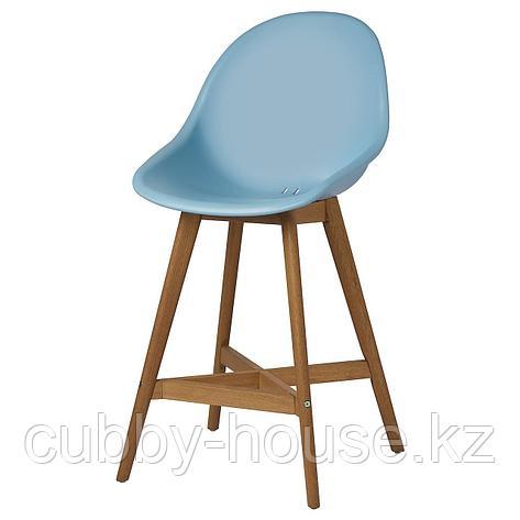 ФАНБЮН Барный стул для дома/сада, голубой, 64 см, фото 2