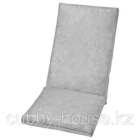 ДУВХОЛЬМЕН Подушка на сиденье/спинку,без чехла, для сада серый, 71x45/42x45 см, фото 2