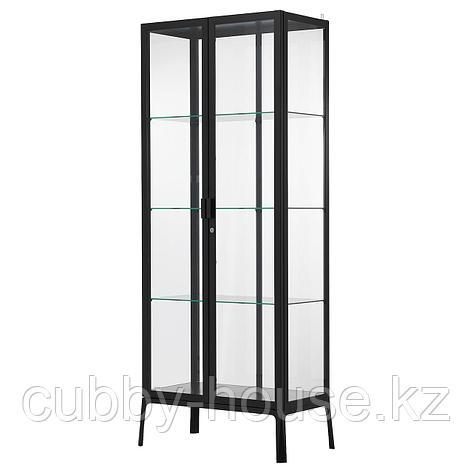 МИЛЬСБУ Шкаф-витрина, антрацит, 73x175 см, фото 2