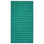 БРЕДЕВАД Ковер безворсовый, зигзаг зеленый, 75x150 см