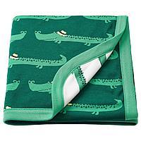 РЁРАНДЕ Одеяло детское, крокодил, зеленый, 80x100 см