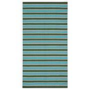 СОММАР 2020 Ковер, безворсовый, в полоску бирюзовый/зеленый, 80x150 см