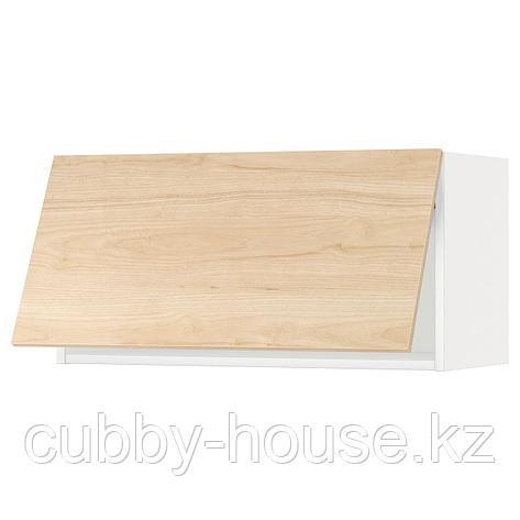 МЕТОД Горизонтальный навесной шкаф, белый, Аскерсунд под светлый ясень, 80x40 см, фото 2