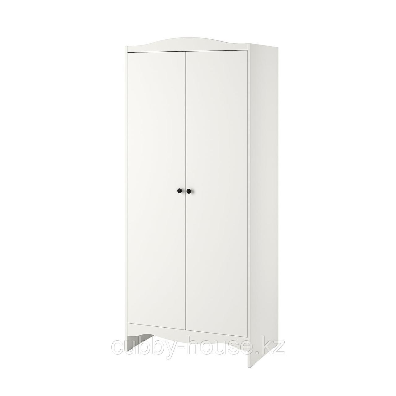 СМОГЁРА Шкаф платяной, белый, 80x50x187 см