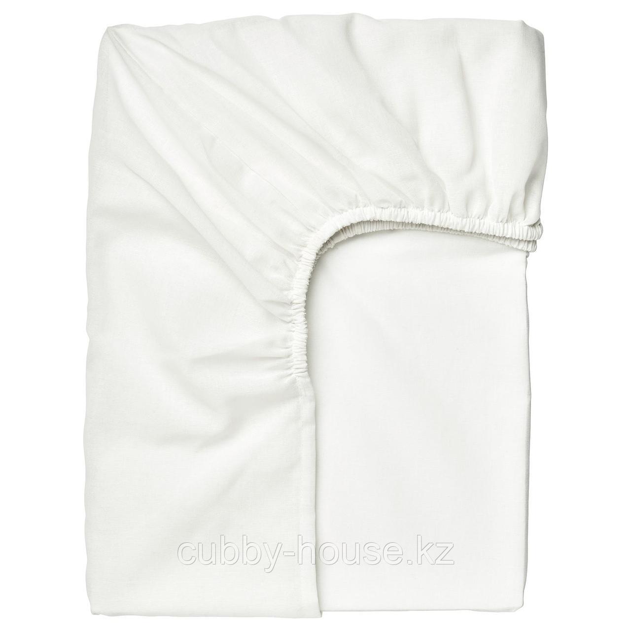 ТАГГВАЛЛЬМО Простыня натяжная, белый, 90x200 см