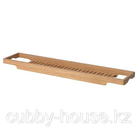 ХАВЕРН Полка для ванны, бамбук, 70 см, фото 2