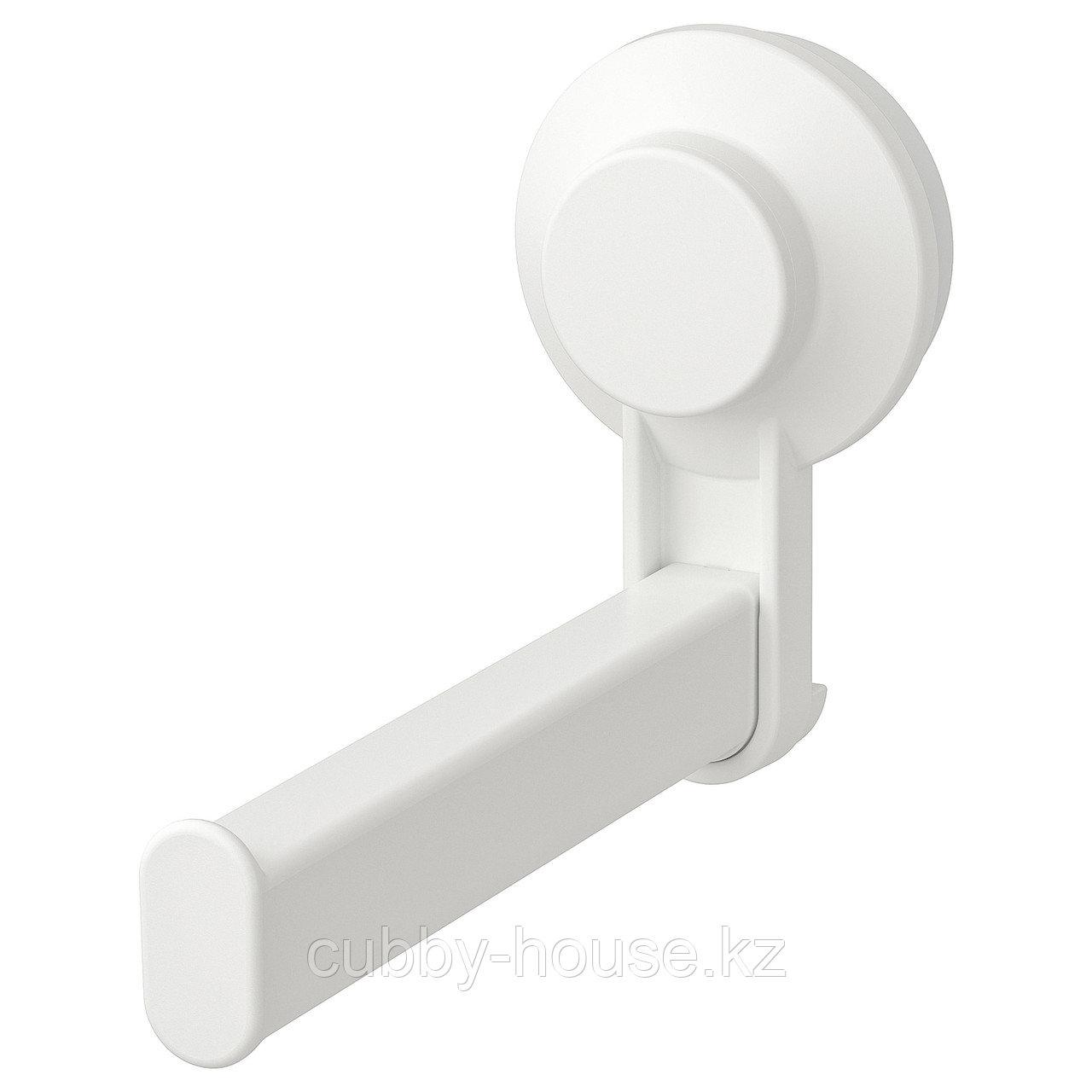 ТИСКЕН Держатель туалетн бумаги н/присоске, белый