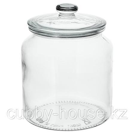 ВАРДАГЕН Банка с крышкой, прозрачное стекло, 1.9 л, фото 2