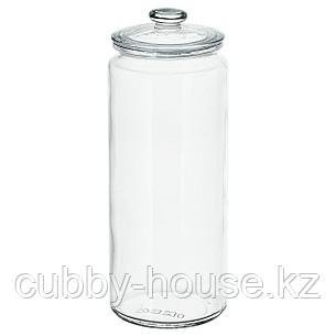 ВАРДАГЕН Банка с крышкой, прозрачное стекло, 1.8 л, фото 2