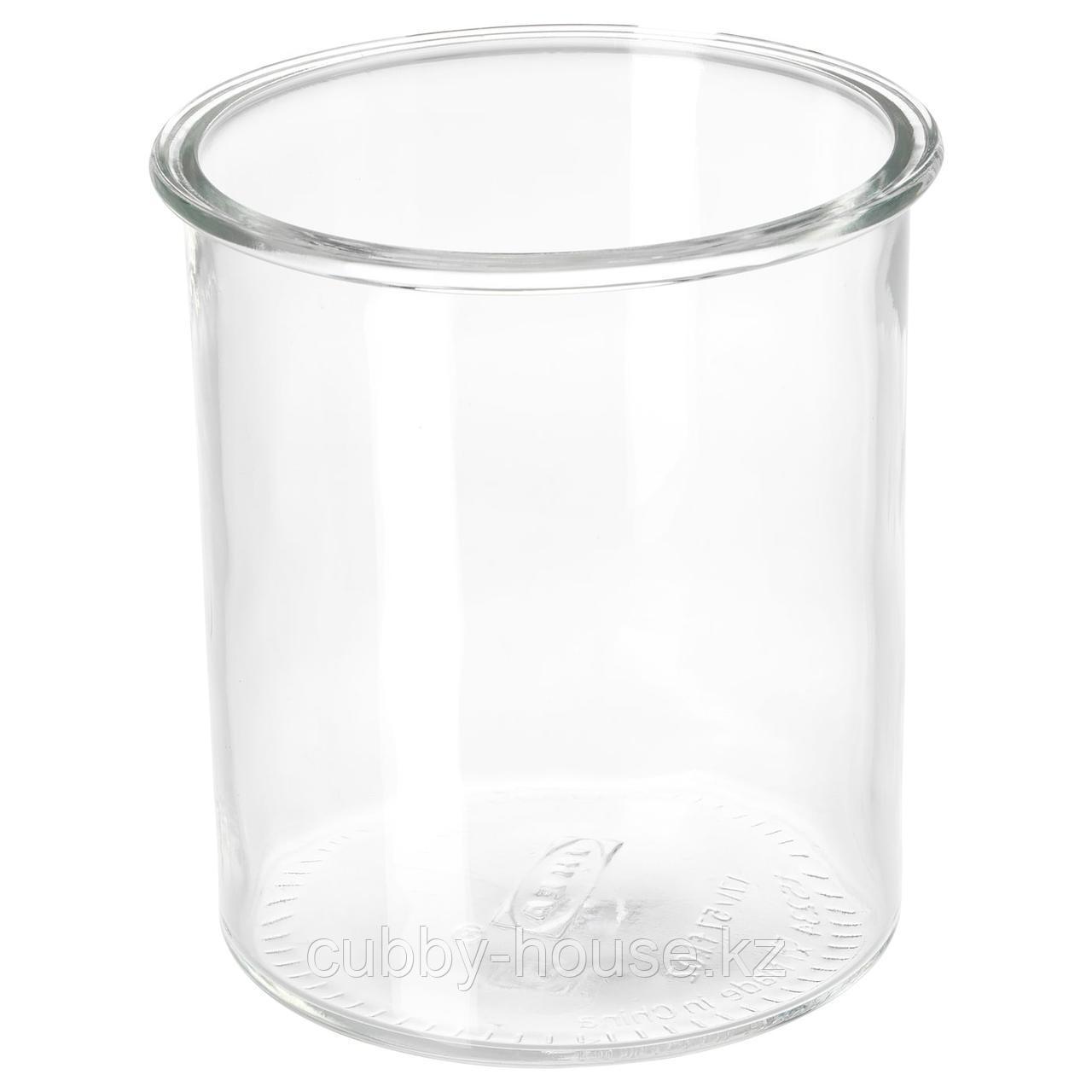 ИКЕА/365+ Банка, круглой формы, стекло, 1.7 л