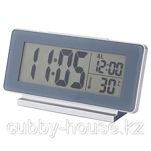 ФИЛЬМИС Часы/термометр/будильник, серый, фото 2