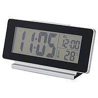 ФИЛЬМИС Часы/термометр/будильник, черный