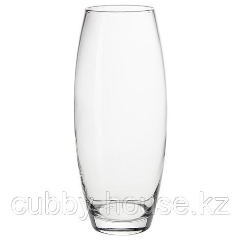 МУНТЛИГ Ваза, прозрачное стекло, 25 см, фото 2