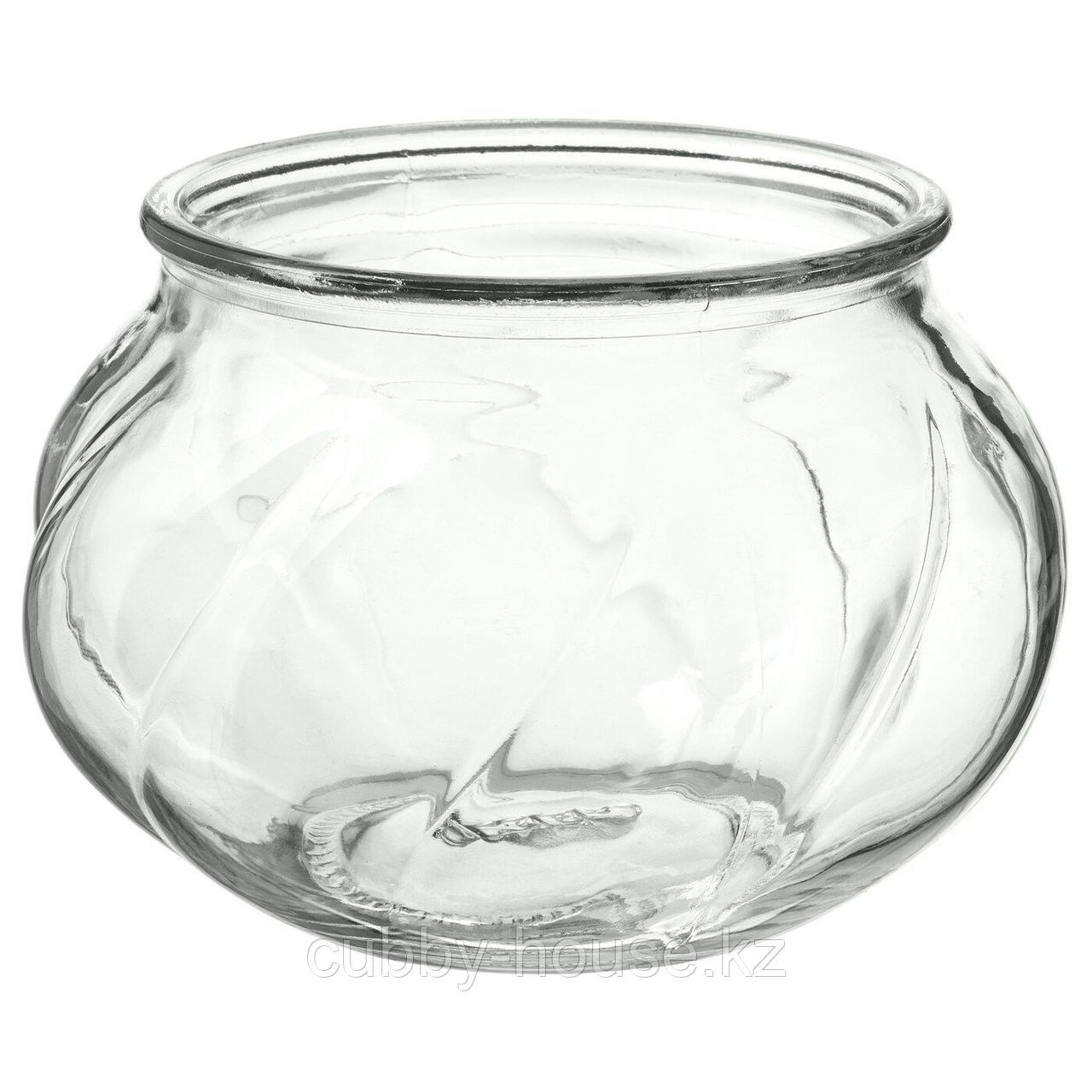 ВИЛЬЕСТАРК Ваза, прозрачное стекло, 8 см