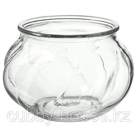 ВИЛЬЕСТАРК Ваза, прозрачное стекло, 8 см, фото 2