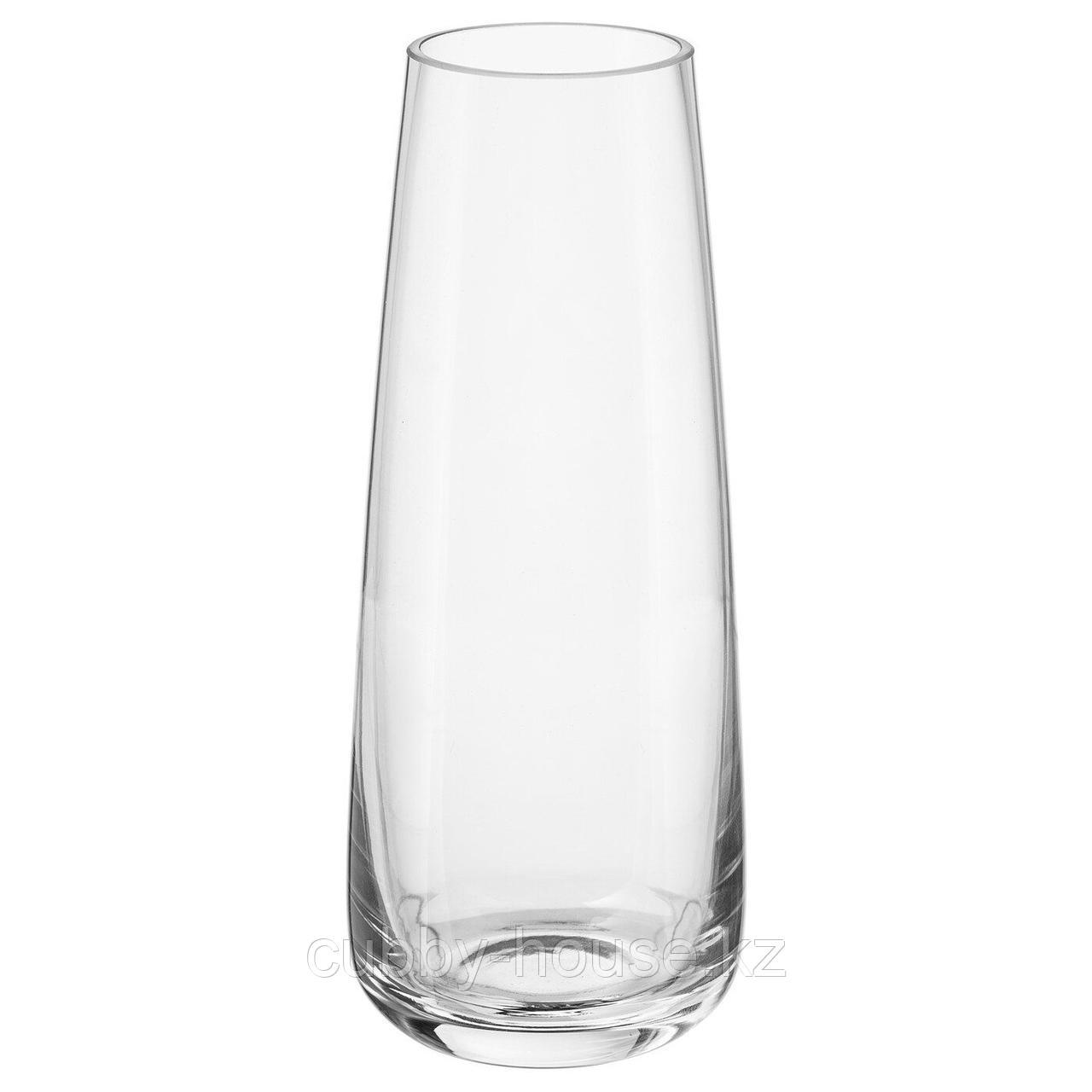 БЕРЭКНА Ваза, прозрачное стекло, 15 см