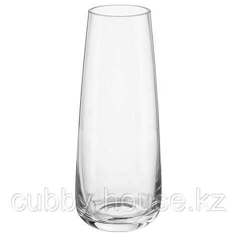 БЕРЭКНА Ваза, прозрачное стекло, 15 см, фото 2