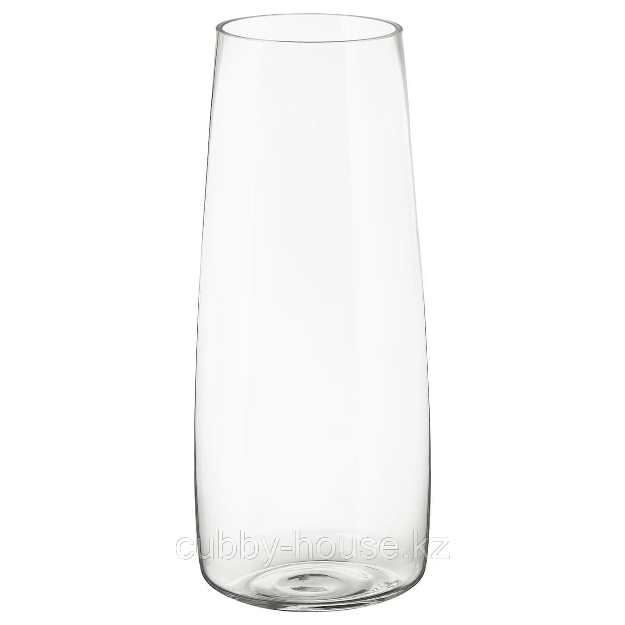 БЕРЭКНА Ваза, прозрачное стекло, 45 см