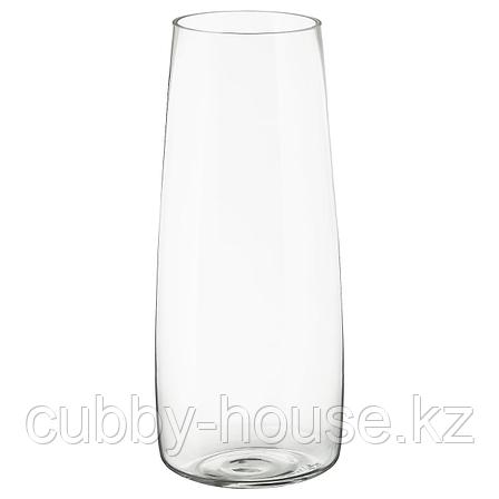 БЕРЭКНА Ваза, прозрачное стекло, 45 см, фото 2