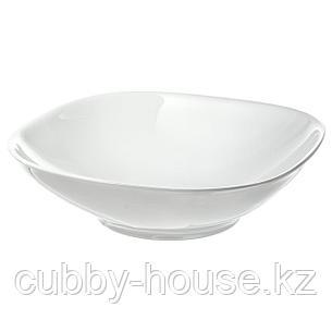 ВЭРДЕРА Тарелка глубокая, белый, 20x20 см, фото 2