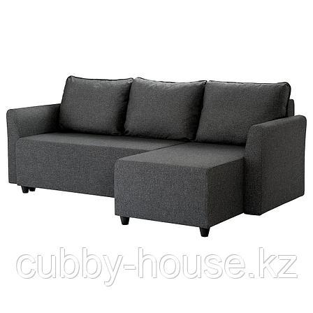 БРИССУНД Диван-кровать с козеткой, Рудорна темно-серый, фото 2