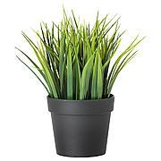 ФЕЙКА Искусственное растение в горшке, д/дома/улицы трава, 9 см