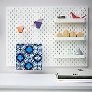 СКОДИС Настенная панель, комбинация, белый, 76x56 см