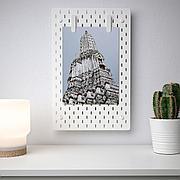 СКОДИС Настенная панель, комбинация, белый, 36x56 см