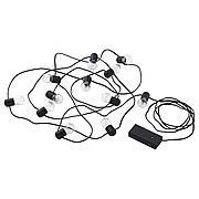 БЛОТСНО Гирлянда, 12 светодиодов, для помещений, с батарейным питанием черный