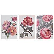 БОККАРА Открытка, Цветы розовый, 10x15 см