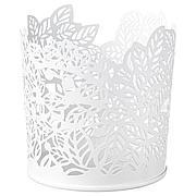 САМВЕРКА Подсвечник для греющей свечи, белый, 8 см