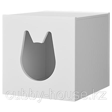 КАЛЛАКС Домик для кошки, белый, 33x33 см, фото 2