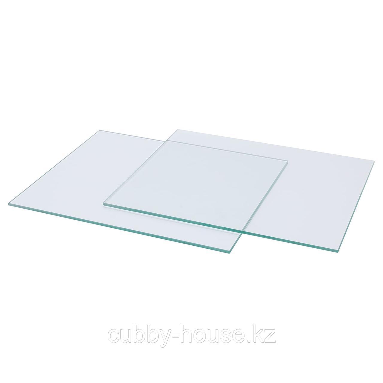 КАЛЛАКС Полка стеклянная, 33x38 см