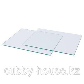 КАЛЛАКС Полка стеклянная, 33x38 см, фото 2