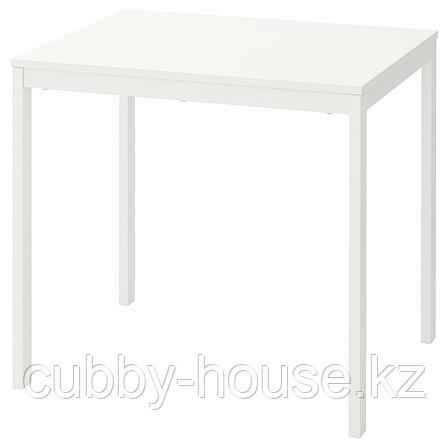 ВАНГСТА Раздвижной стол, белый, 80/120x70 см, фото 2