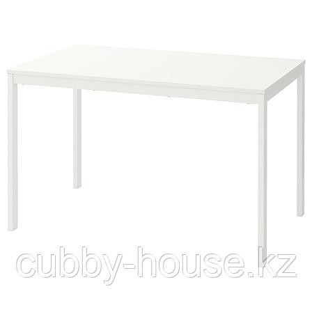ВАНГСТА Раздвижной стол, белый, 120/180x75 см, фото 2