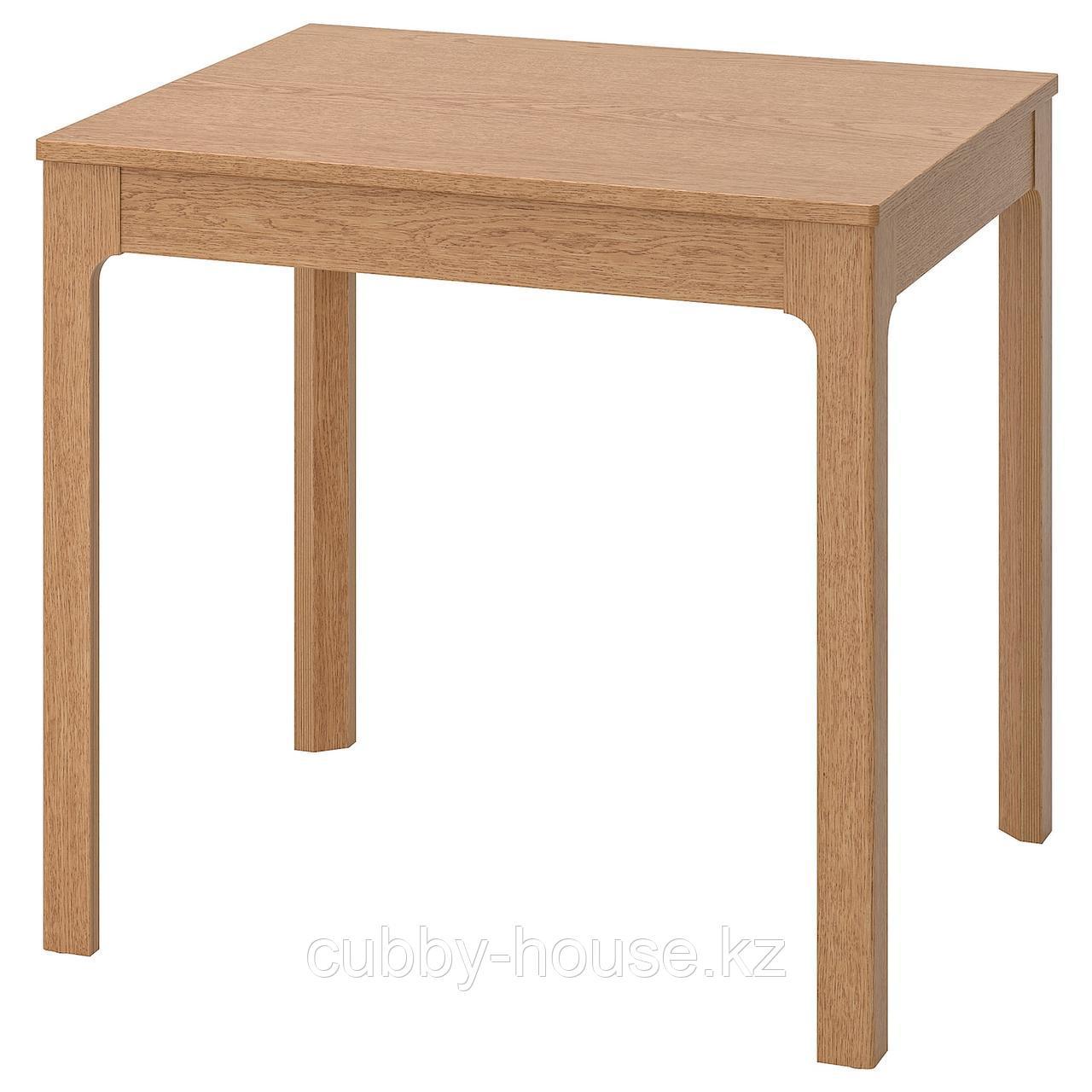 ЭКЕДАЛЕН Раздвижной стол, дуб, 80/120x70 см