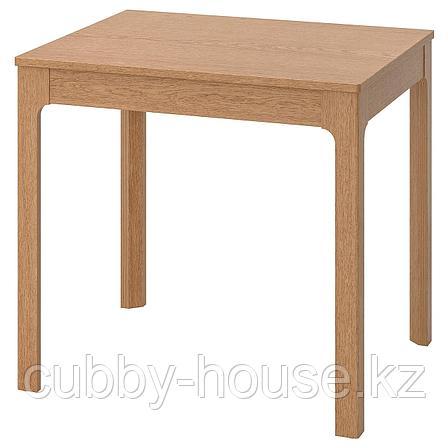ЭКЕДАЛЕН Раздвижной стол, дуб, 80/120x70 см, фото 2