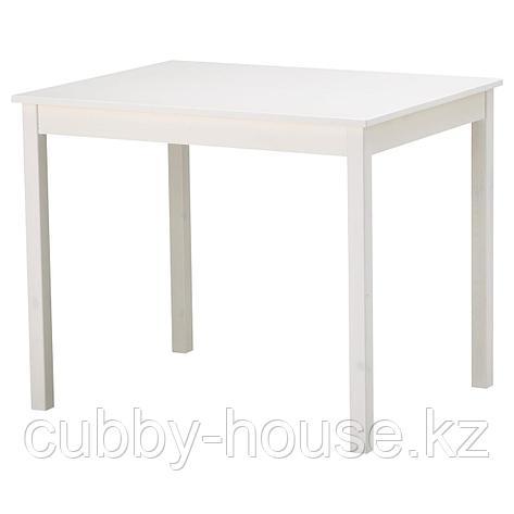 ОЛМСТАД Стол, белый, 90x70 см, фото 2