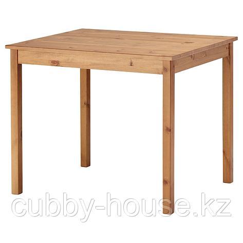 ОЛМСТАД Стол, морилка,антик, 90x70 см, фото 2