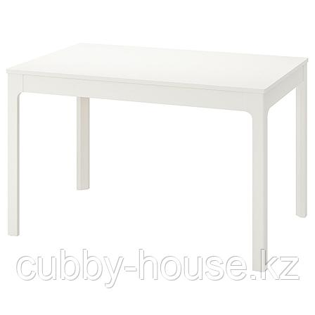 ЭКЕДАЛЕН Раздвижной стол, белый, 120/180x80 см, фото 2
