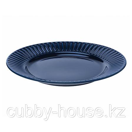 СТРИММИГ Тарелка, каменная керамика синий, 27 см, фото 2