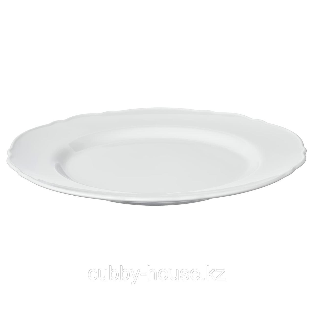УППЛАГА Тарелка, белый, 28 см