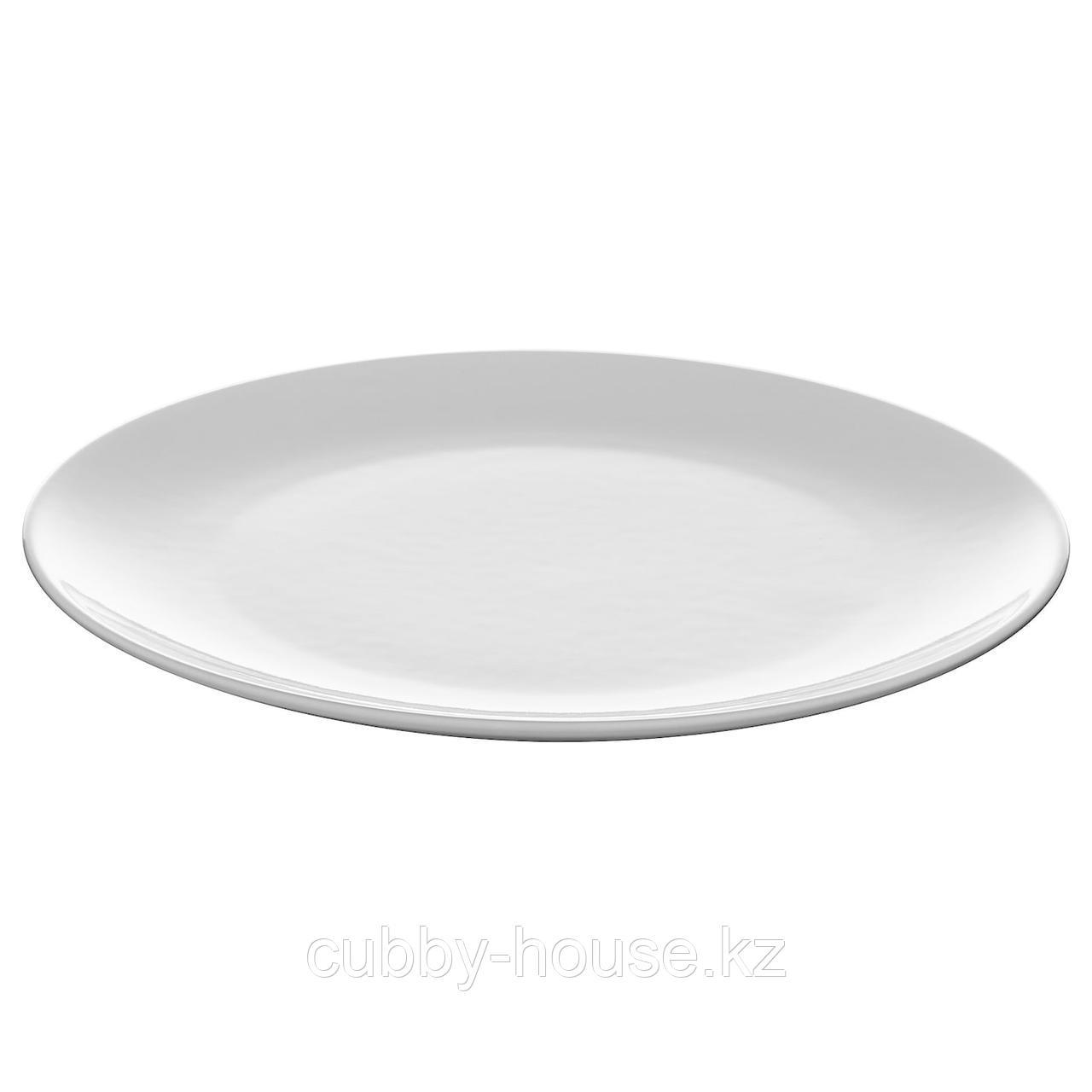 ФЛИТИГХЕТ Тарелка, белый, 26 см