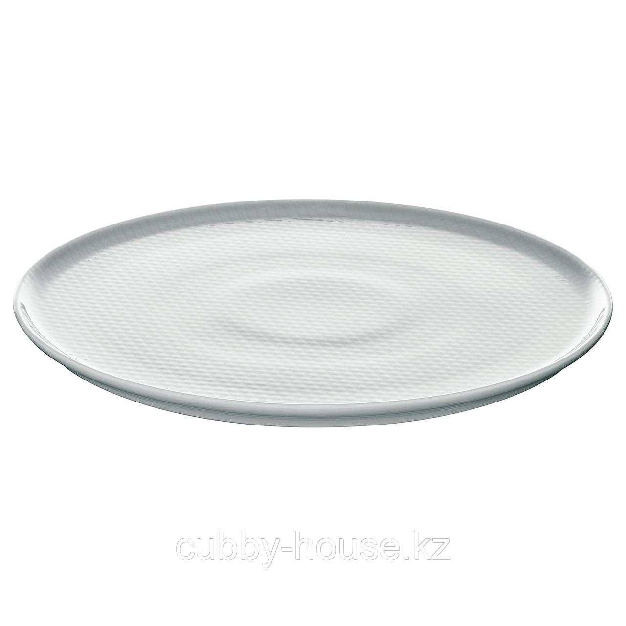 КРУСТАД Тарелка, светло-серый, 25 см