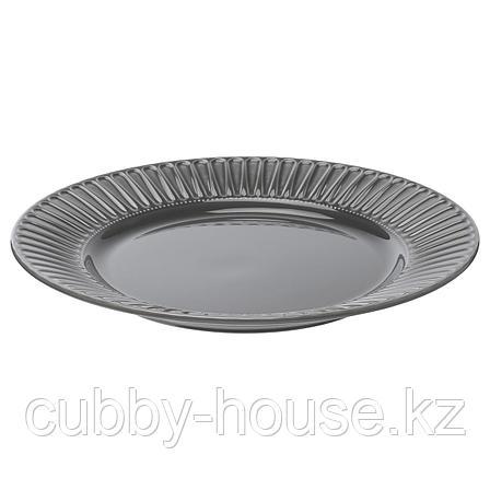 СТРИММИГ Тарелка, каменная керамика серый, 27 см, фото 2
