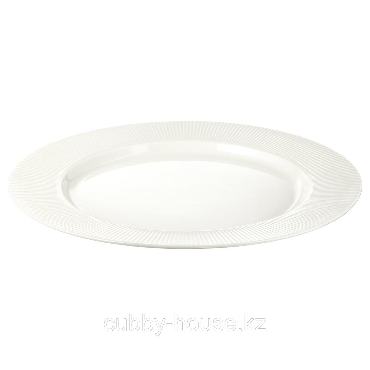 ОФАНТЛИГТ Тарелка, белый, 28 см