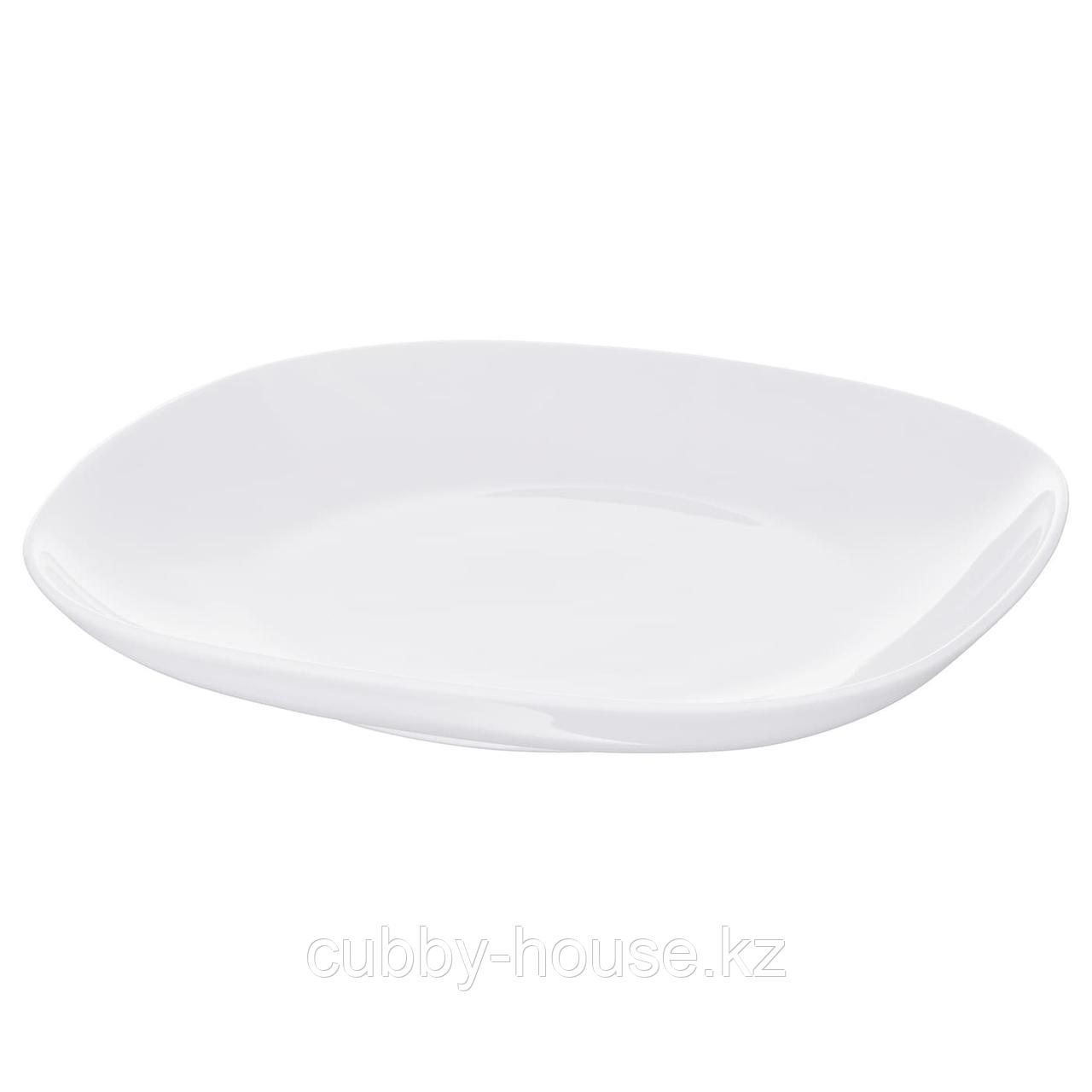 ВЭРДЕРА Тарелка, белый, 25x25 см