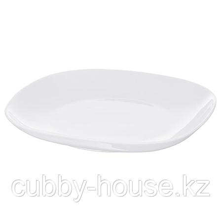 ВЭРДЕРА Тарелка, белый, 25x25 см, фото 2