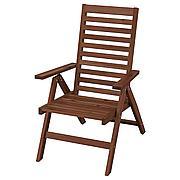 ЭПЛАРО Садовое кресло/регулируемая спинка, складной коричневая морилка